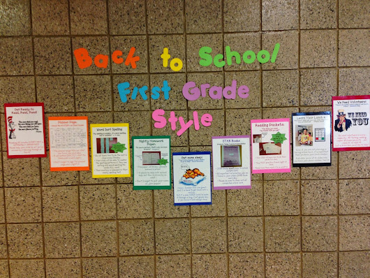 Back to School: First Grade Style!