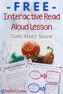 FREE Interactive Read Aloud Lesson for Toys Meet Snow