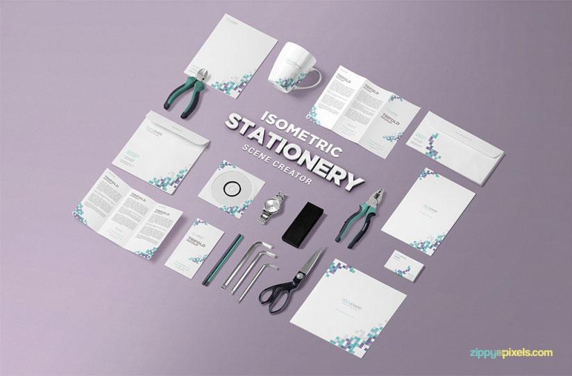 Isometric Stationery Scene Creator