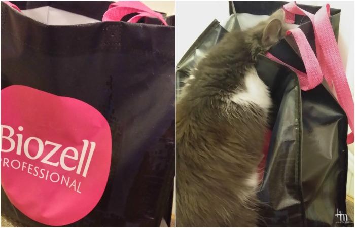 Miku-kissa tutkii Biozellin tuotekassia