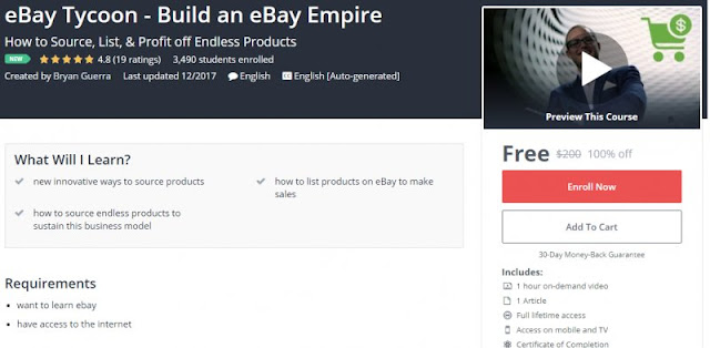 [100% Off] eBay Tycoon - Build an eBay Empire| Worth 200$