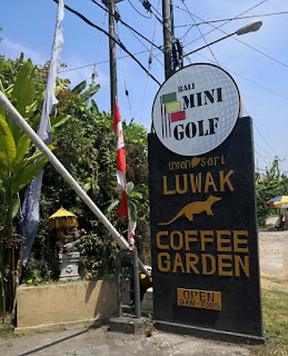 Bali Mini Golf and Luwak Coffee Garden in Indonesia