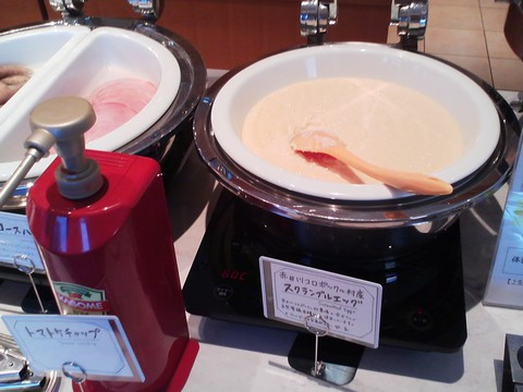 ビュッフェコーナー:スクランブルエッグ オーセントホテル小樽カサブランカ