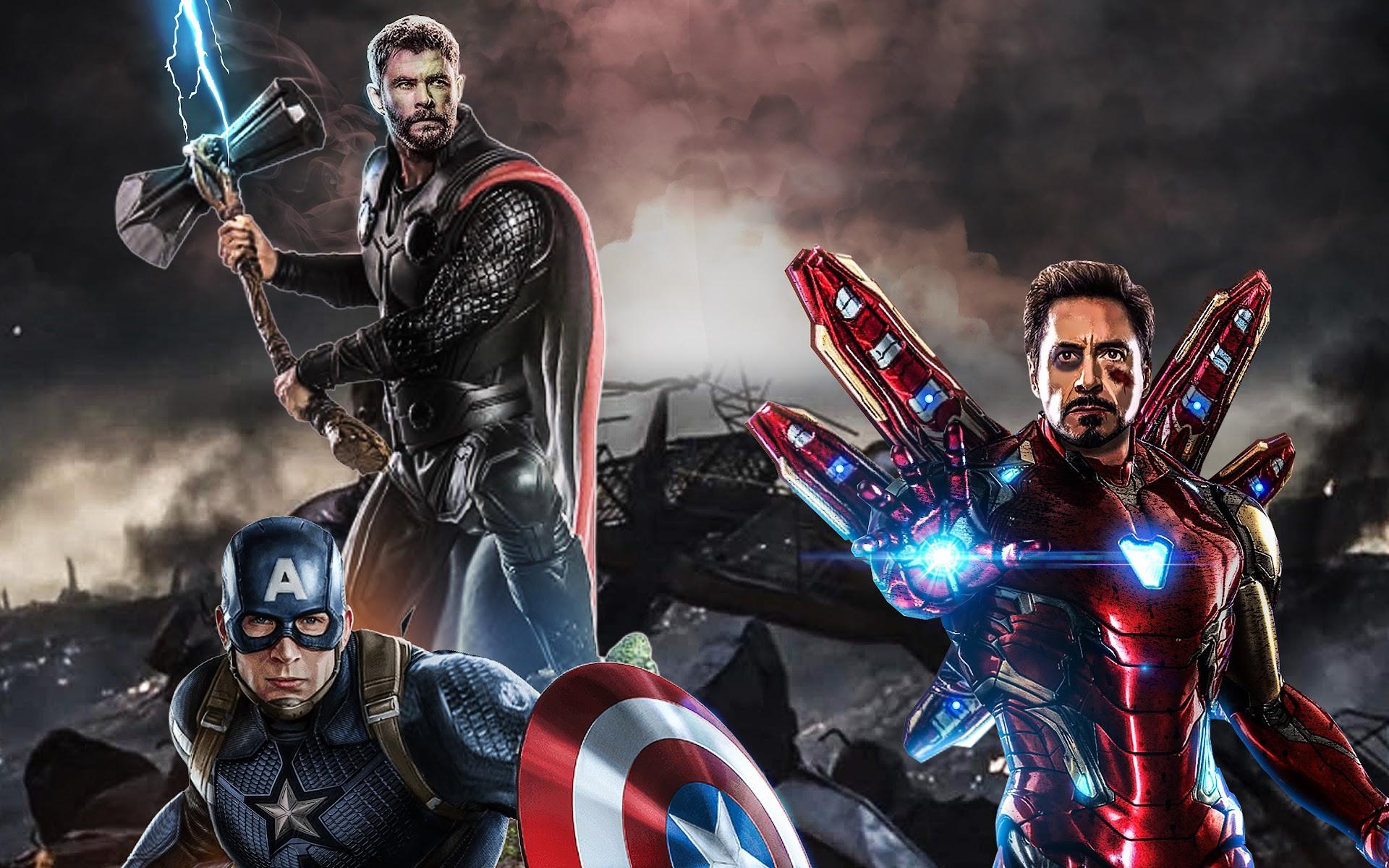 Avengers: Endgame, Captain America, Thor, Iron Man, 4K ...