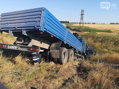 Затримали водія вантажівки, яка зіштовхнувся з маршруткою біля Запоріжжя