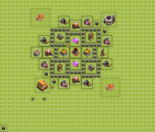 Clash of Clans Town Hall 4 Farming Type