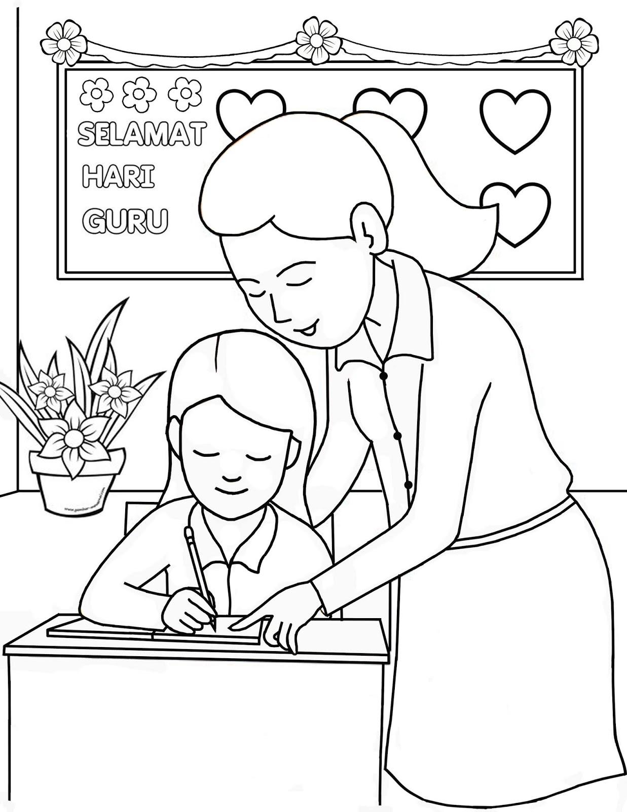 Mewarnai Gambar Dengan Tema Hari Guru Nasional – Cuitan Dokter