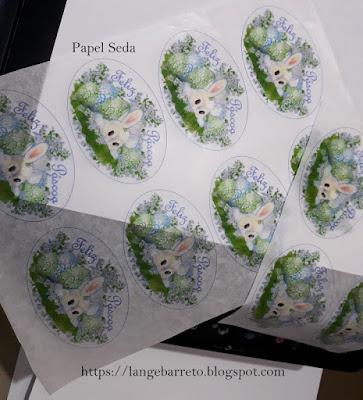 Impressão em papel seda.