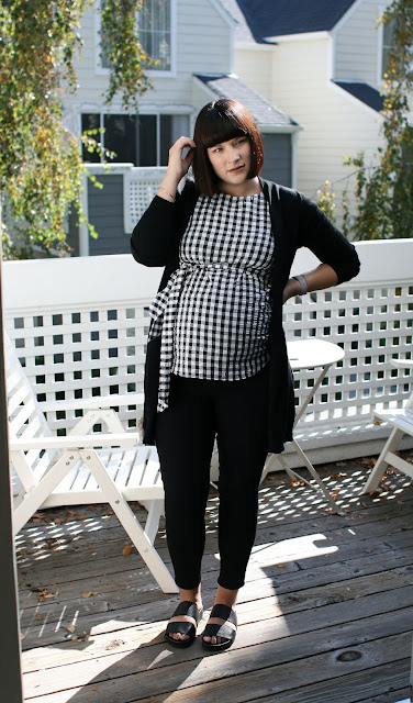 Topshop, Vince, Black and white, Pregnancy outfit, OOTD, 35 weeks pregnant, maternity inspiration