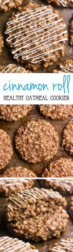 Cinnamon Roll Oatmeal Cookies