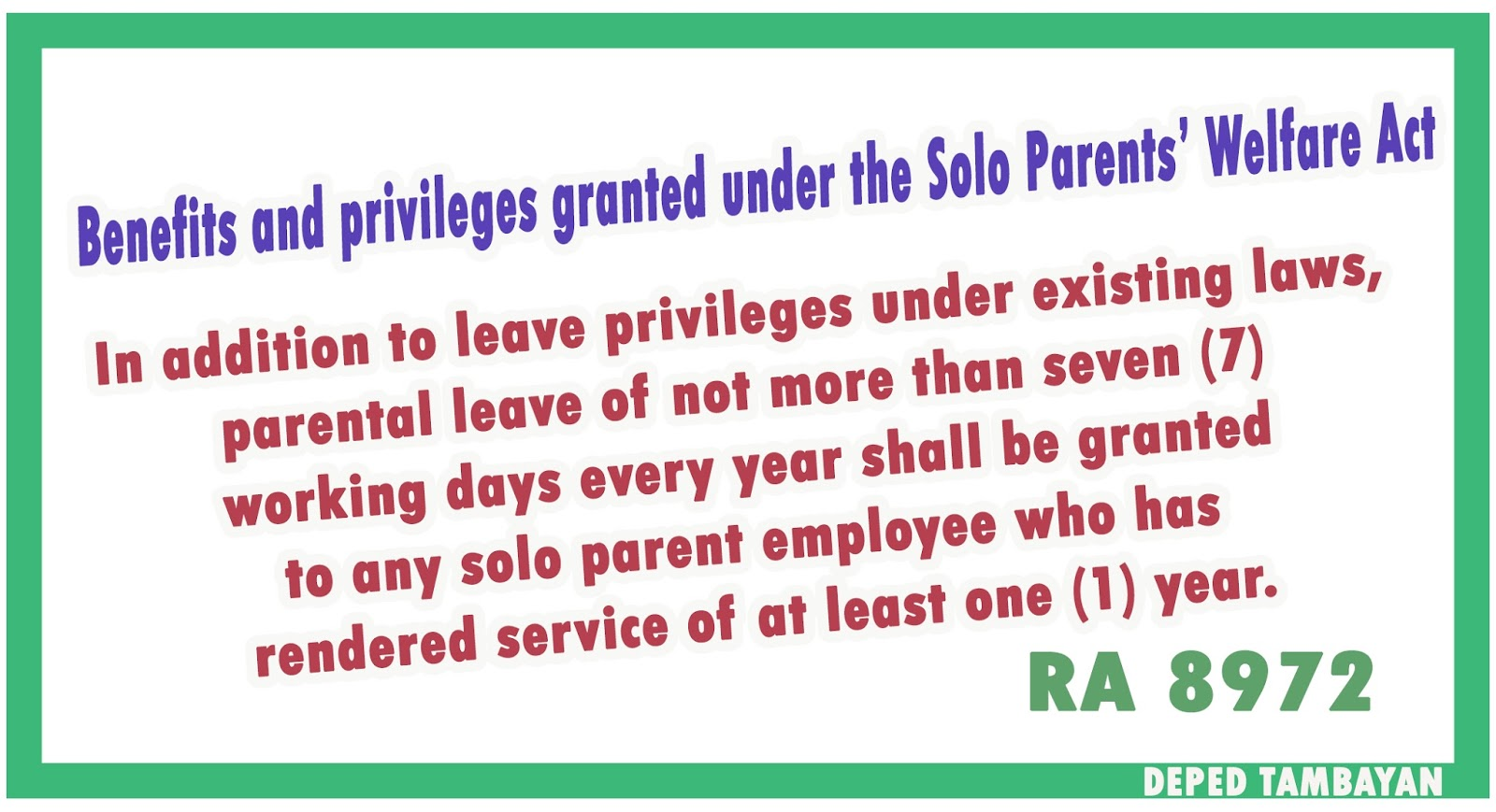 Solo parents welfare act benefits granted to single parents solo parents welfare act benefits granted to single parents fandeluxe Choice Image