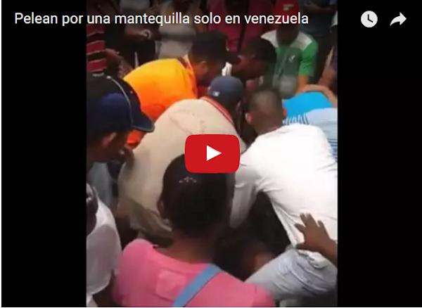 Pelea por el último pote de Mantequilla en Maracay