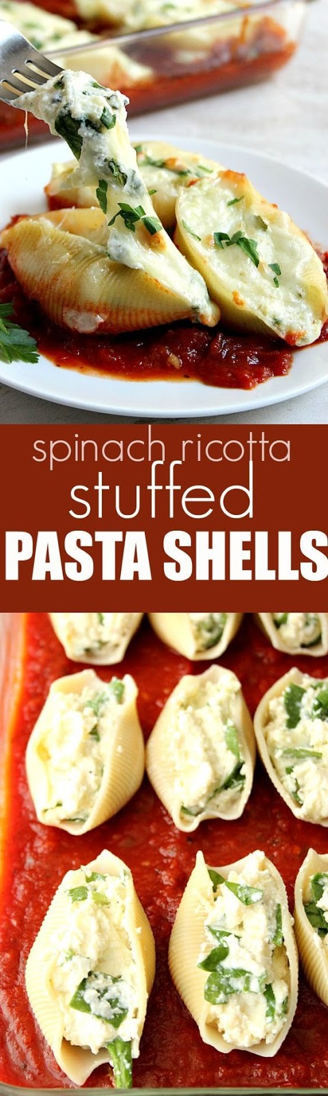Spinach and Ricotta Stuffed Pasta Shells Recipe