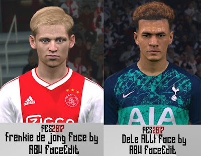 PES 2017 Faces Frenkie de Jong & Dele Alli by ABW_FaceEdit
