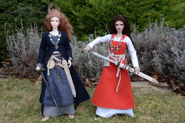 Viking outfits and sword for doll