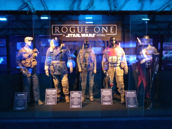 Star Wars Rogue One movie costume exhibit