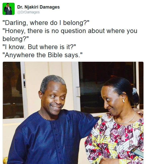 The other room: Between VP Osinbajo and wife, Dolapo