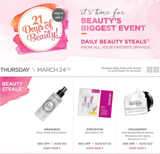 Ulta 21 Days Of Beauty Deals Of The Day 50% OFF Coupon Sale 2016