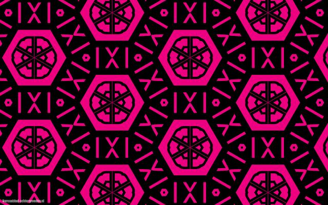 Mooie zwart roze abstracte achtergrond met leuke patronen en figuren