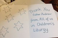 Picture of Thankyou card to Fr Andrew
