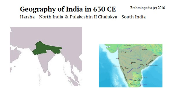 Migration of Brahmins as per Nogawa Plates of Dharasena II in 640 AD - India Geography Harsha Pulakeshin II