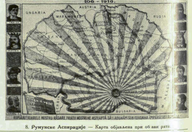 Romanian Aspiration Map which was published when the war broke out.
