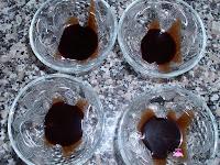 Sirope de chocolate en la copa
