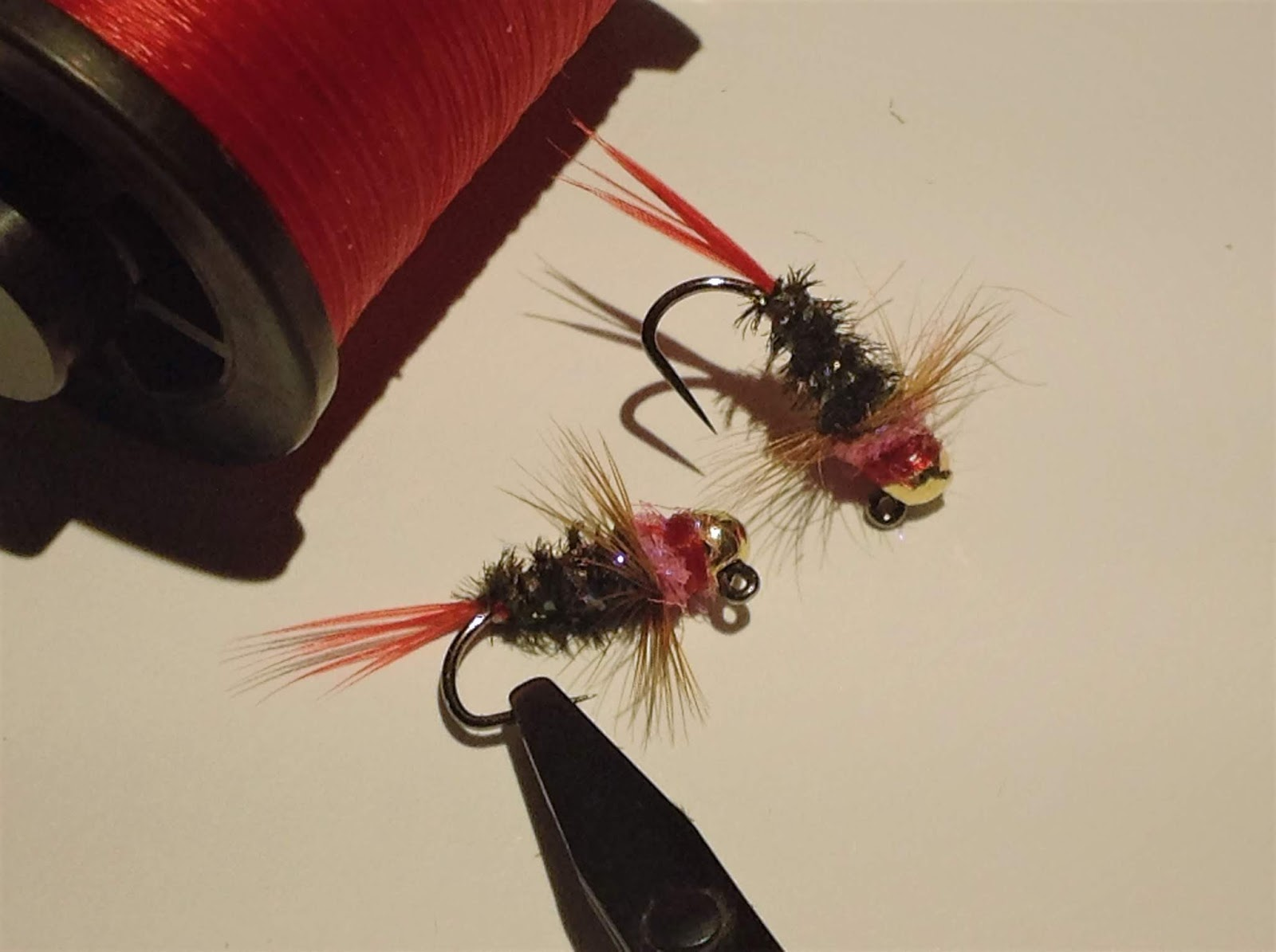 14 on Jig Hook Tungsten UV CDC Micro Wooly Buggers Euro Nymhing sz 8