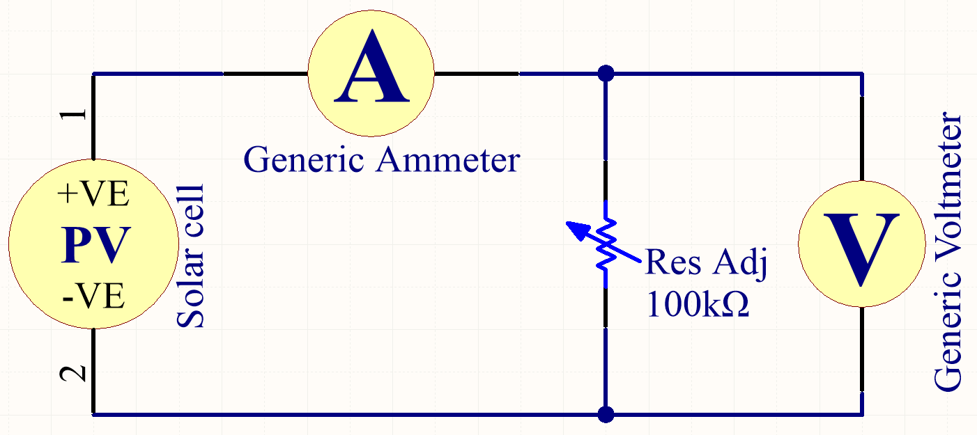 Antalifes Blog Project Solar House Led Candle Flicker Circuit To Do This I Used Your Typical Rheostat Place A Variable Load Across The Cell And Then Measured Developed Current Voltage For