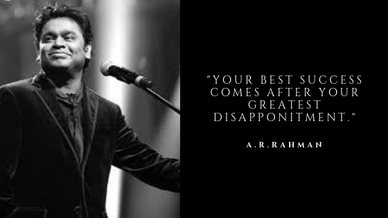 A R Rahman Quotes | Collection of Best Inspirational Quotes on Sepher Quotes