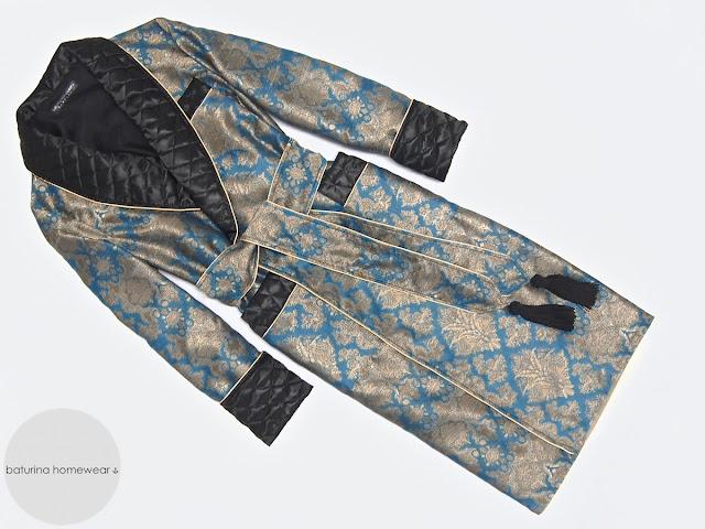 herren morgenmantel seide baumwolle lang edel elegant gesteppt gefüttert warm jacquard hausmantel englisch britisch morgenrock schlafrock dressing gown für männer