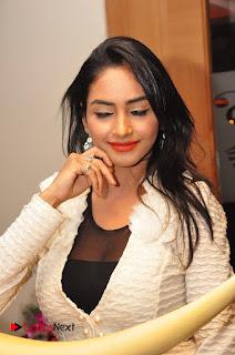 Actress Pooja Sree  Pictures at Khaan Saab Restuarent Launch in Gachibowli   0133.JPG