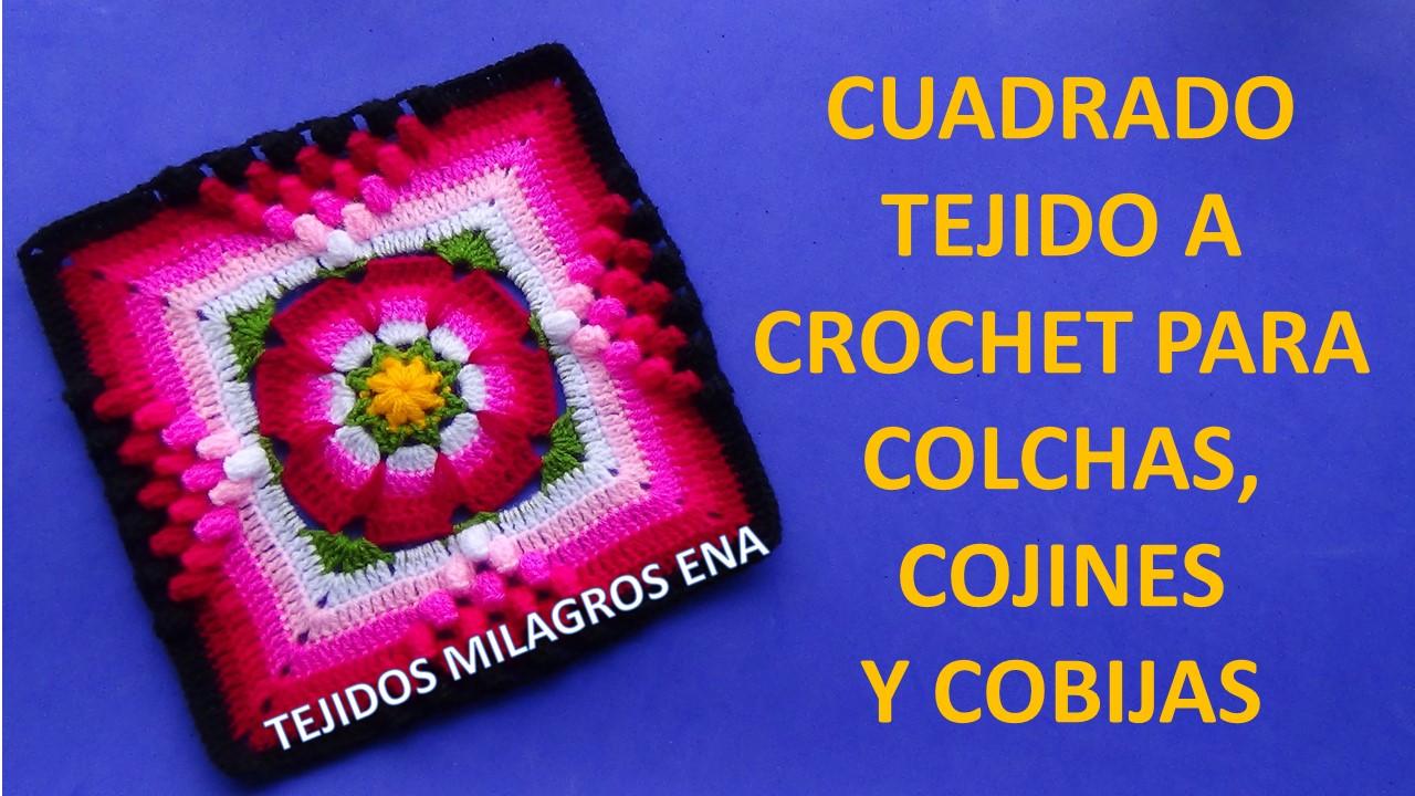 Tejidos milagros ena cuadrado tejido a crochet paso a - Colchas de crochet paso a paso ...