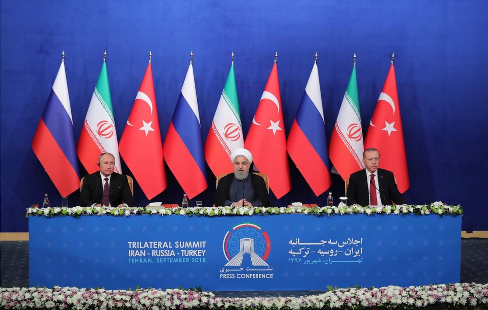 Presiden Rusia, Iran, dan Turki menyepakati langkah untuk penyelesaian di Suriah