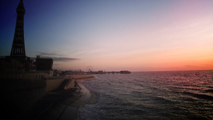 Blackpool Promenade Sunset