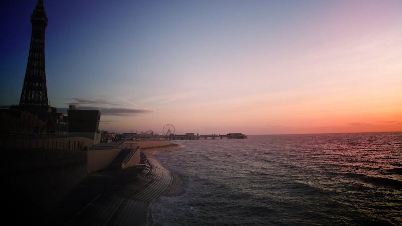 Blackpool Promenade at sunset HD