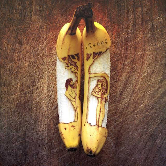 lukisan media pisang paling kreatif unik lucu dan menakjubkan-4