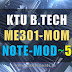 Note for ME301 Mechanics of Machinery -MOM Module 5 [S5 ME]