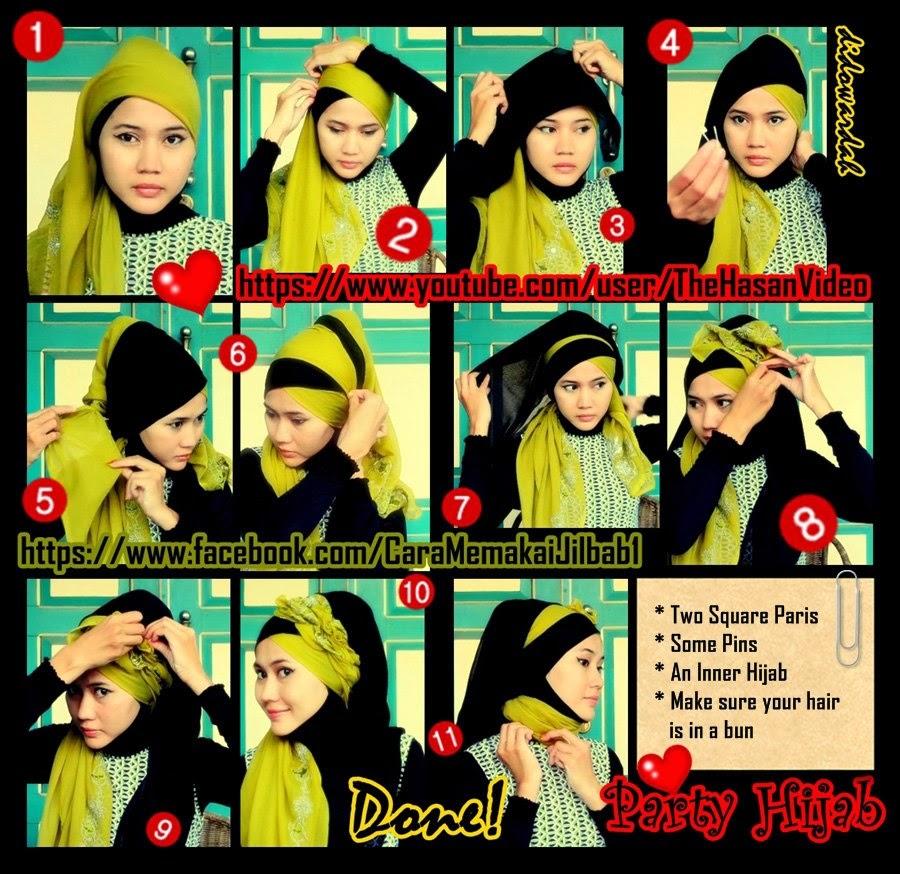 27 Koleksi Tutorial Hijab Wisuda 2 Warna Paling Update Tutorial