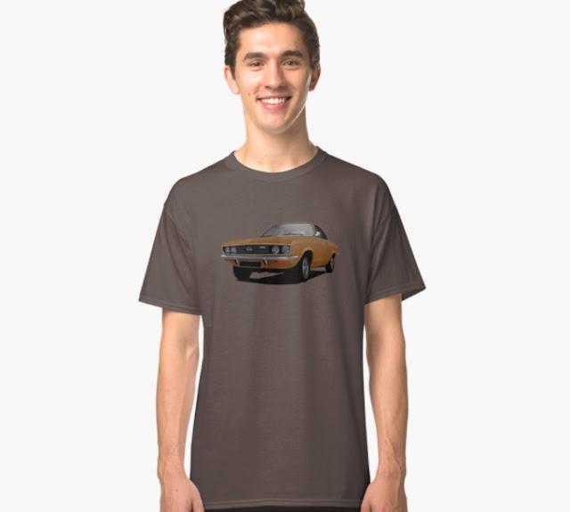 Brown Opel Manta A - t-shirt