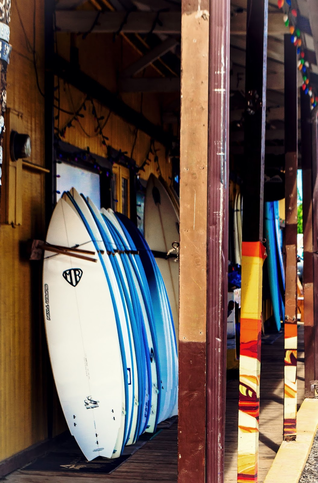 Surfboards in Haleiwa, North Shore