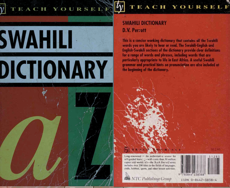 Concise Swahili And English Dictionary Swahili English English Swahili Pseudepigraphas