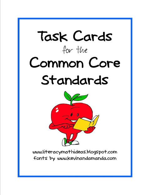 Common Core Reading Task Cards