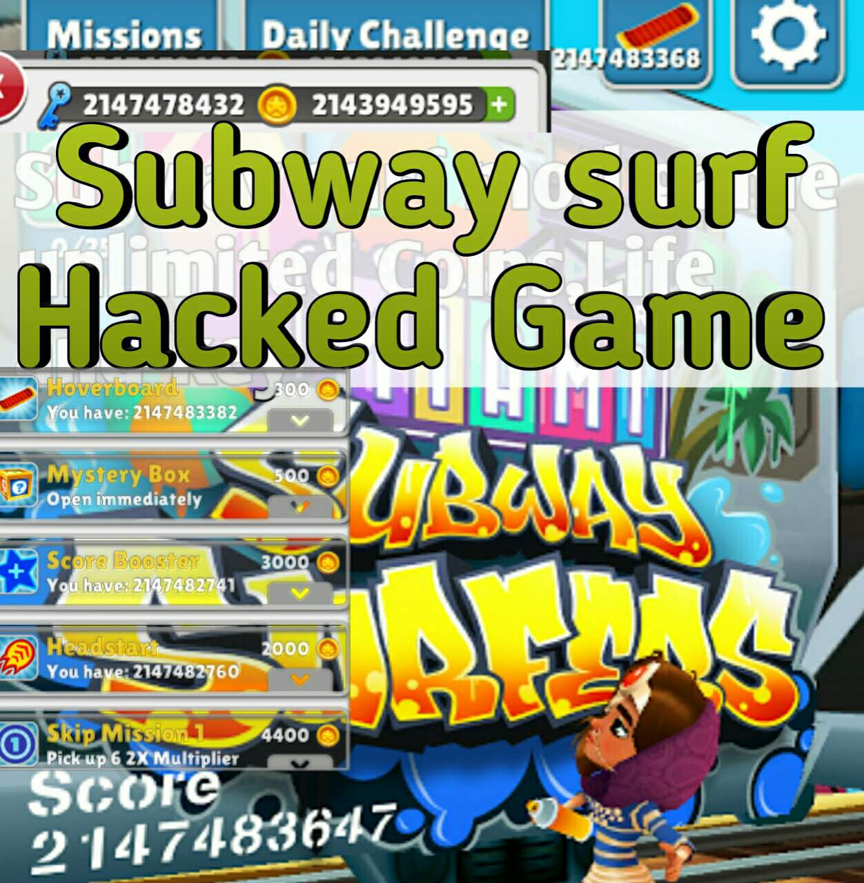 free keys in subway surfers