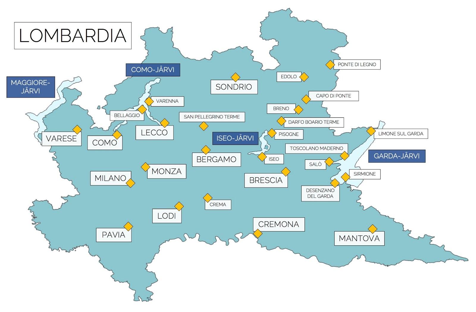 Lombardian Alue Pohjois Italia Raidallisia Retkia