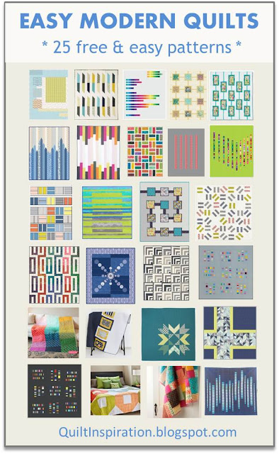 Quilt Inspiration: Free pattern day: Easy Modern Quilts (1)