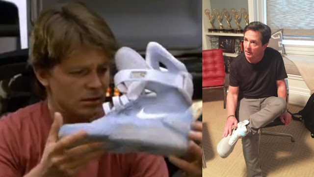 Nike regala a Michael J. Fox sus zapatillas del futuro
