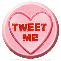 Tweet Me text on Love Heart sweet free image for texting