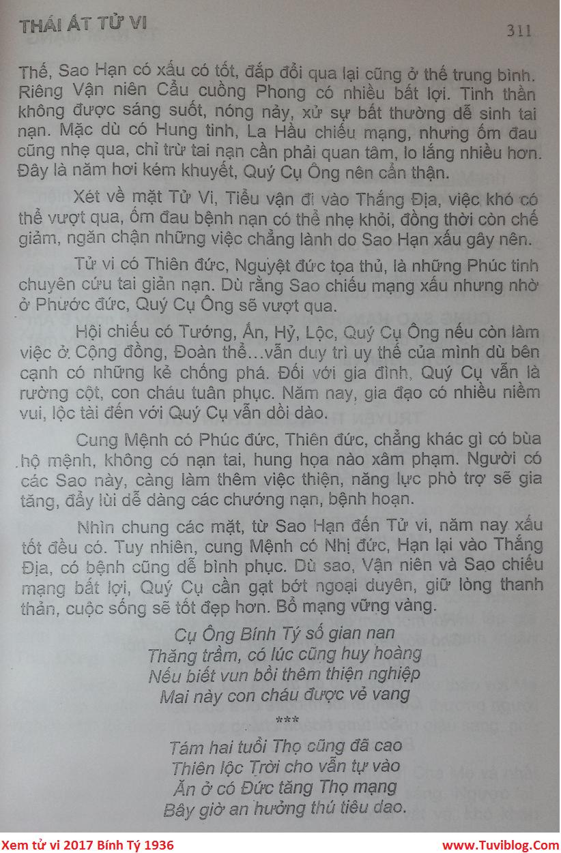 Tu vi Binh Ty 1936 nam 2017