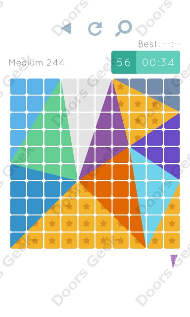 Cheats, Walkthrough for Blocks and Shapes Medium Level 244